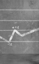 Businessman draws a statistical trend line